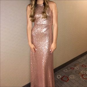 Jenny Yoo Gold Sequin Gown
